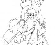 Coloriage Dessin Sasuke et Kakashi facile