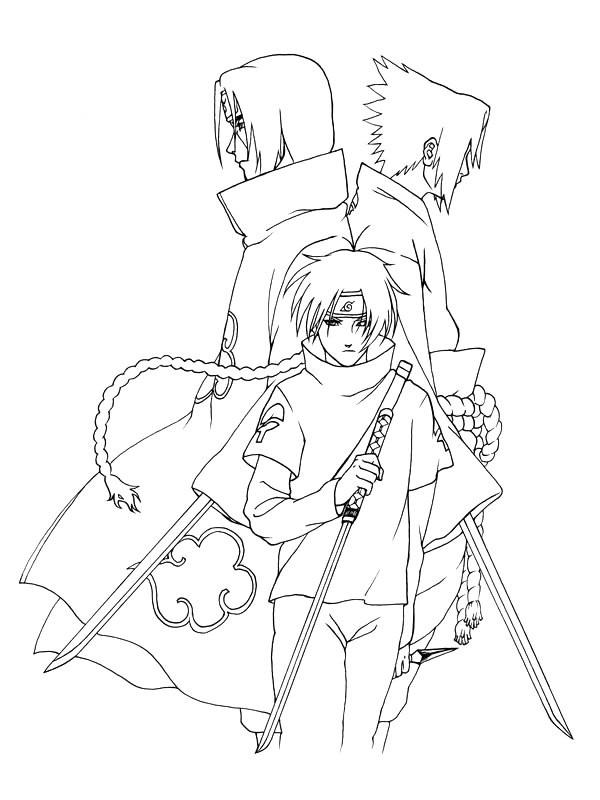 Coloriage dessin sasuke et kakashi facile dessin gratuit - Dessin naruto et sasuke ...