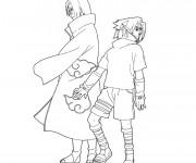 Coloriage Dessin Sasuke et Naruto