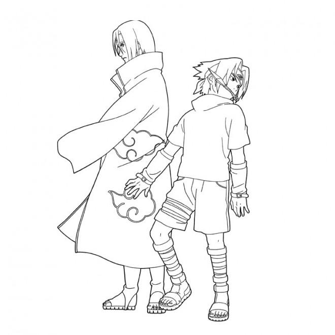 Coloriage dessin sasuke et naruto dessin gratuit imprimer - Image a colorier naruto ...