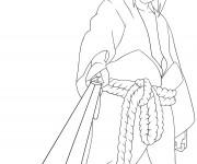 Coloriage Dessin Sasuke facile