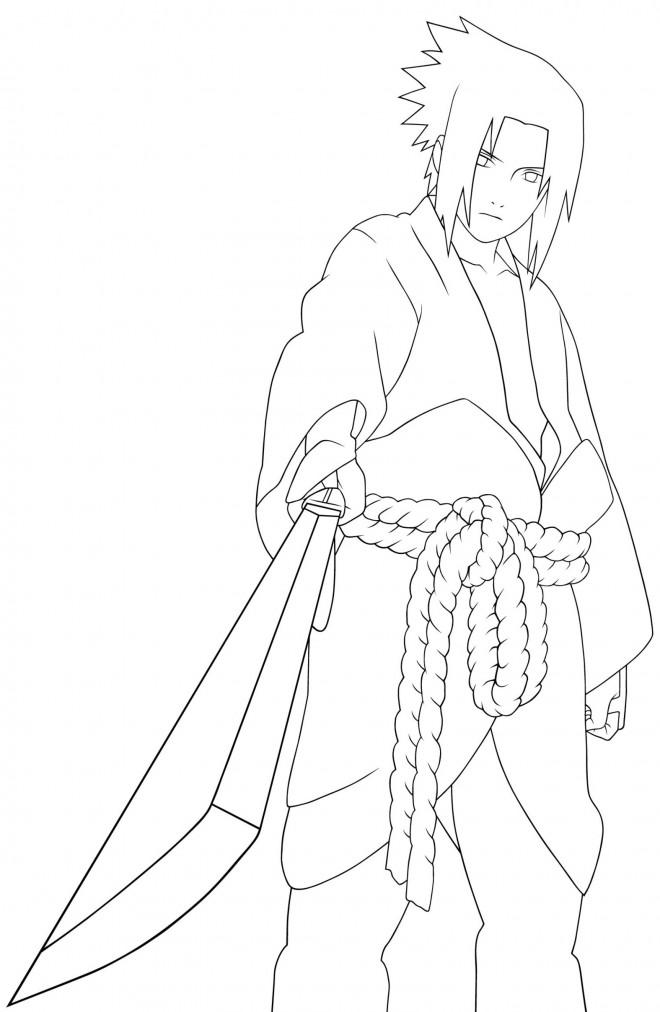 Coloriage Dessin Sasuke Facile Dessin Gratuit à Imprimer