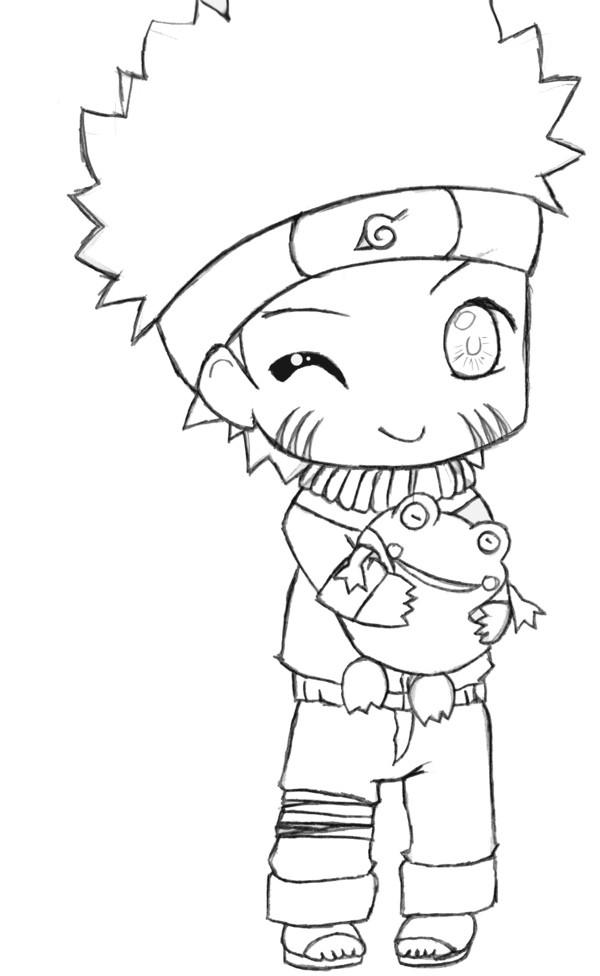 Coloriage et dessins gratuits Naruto bébé à imprimer