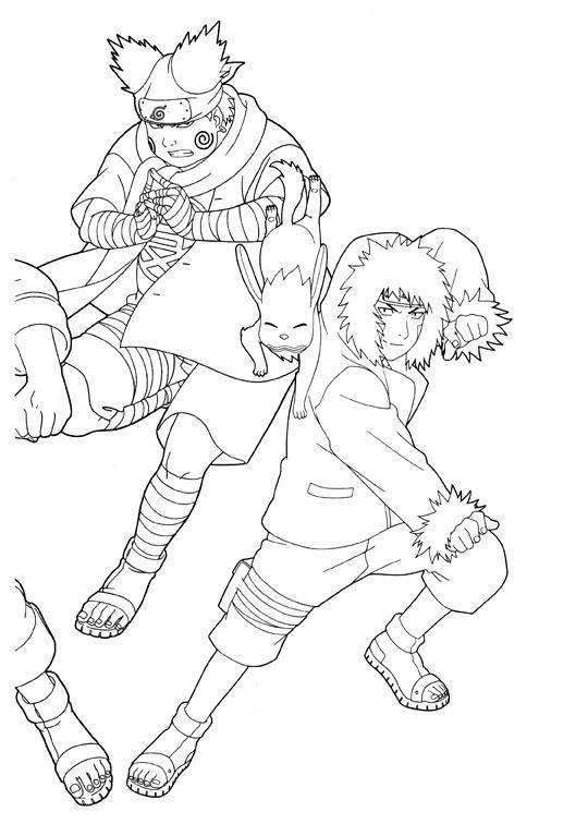Coloriage et dessins gratuits Naruto Chôji Akimichi personnage à imprimer