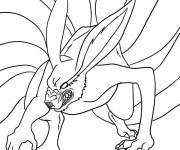 Coloriage Naruto Demon Renard