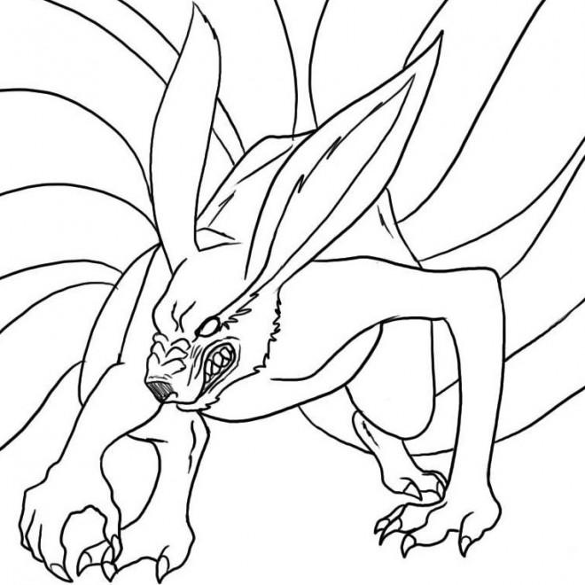 Coloriage naruto demon renard dessin gratuit imprimer - Dessin de naruto a colorier ...