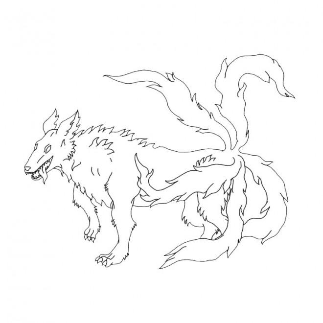 Coloriage et dessins gratuits Naruto démon requin dessin à imprimer