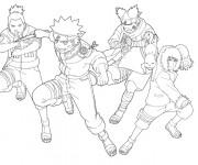 Coloriage et dessins gratuit Naruto en couleur à imprimer
