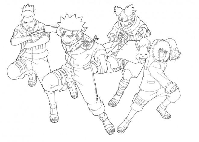 Coloriage et dessins gratuits Naruto en couleur à imprimer