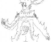 Coloriage Naruto en flame