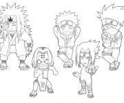 Coloriage Naruto enfants