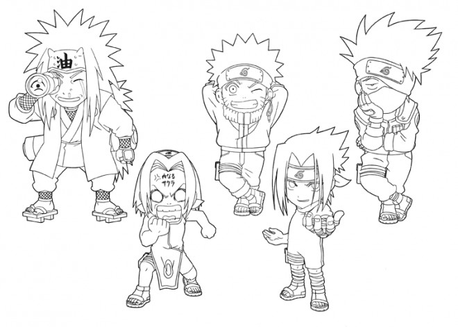Coloriage Naruto Enfants Dessin Gratuit A Imprimer