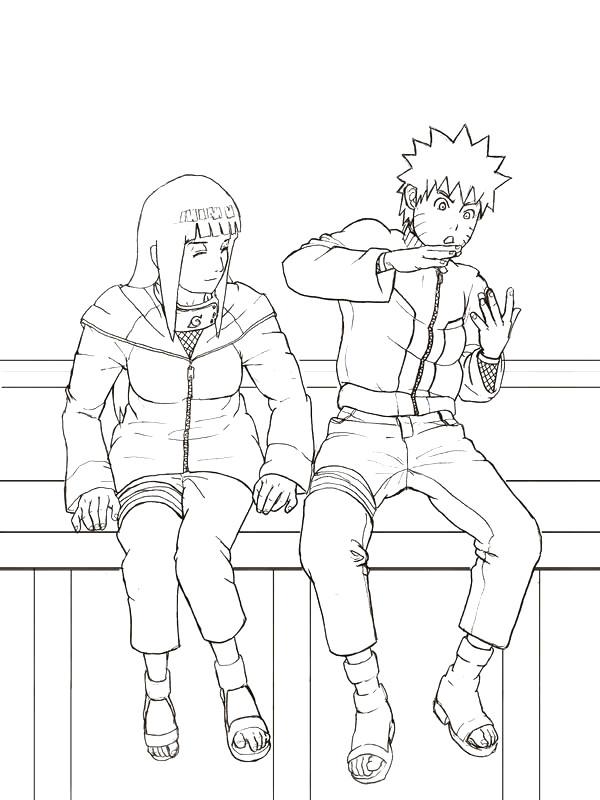 Coloriage et dessins gratuits Naruto et Haku facile à imprimer