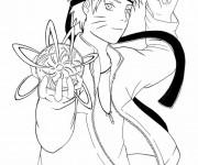 Coloriage Naruto et le ballon d'eau