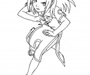 Coloriage Naruto fille magique