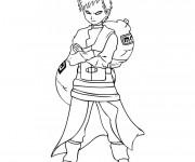 Coloriage Naruto Gaara