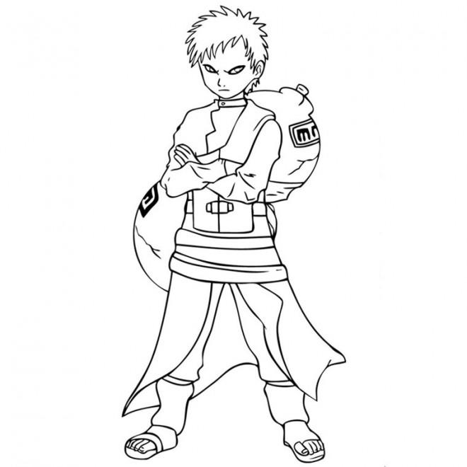 Coloriage et dessins gratuits Naruto Gaara à imprimer