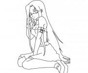 Coloriage Naruto Haku pour fille
