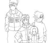 Coloriage Naruto image de personnages