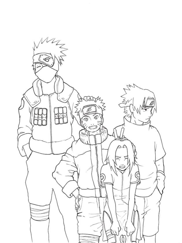 Coloriage et dessins gratuits Naruto image de personnages à imprimer