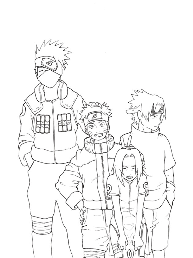 Coloriage naruto image de personnages dessin gratuit - Dessin de naruto a colorier ...