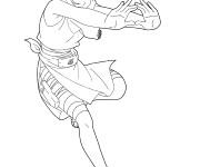 Coloriage Naruto Ino Yamanaka attaque