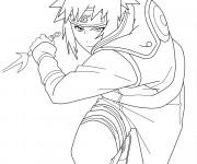 Coloriage et dessins gratuit Naruto Itachi Uchiwa à imprimer