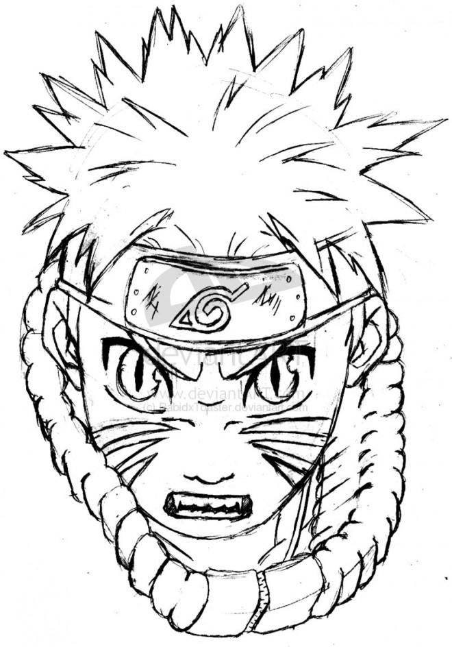Coloriage naruto jeune ninja dessin gratuit imprimer - Dessin de naruto akkipuden ...