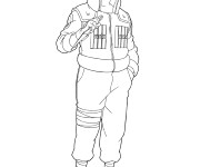 Coloriage Naruto Kakashi Hatake dessin