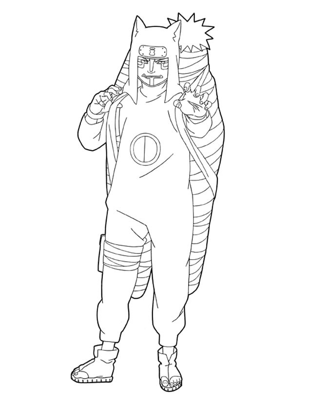 Coloriage et dessins gratuits Naruto Kankurô à imprimer