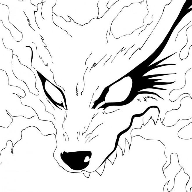 Coloriage et dessins gratuits Naruto Kyubi à imprimer