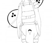 Coloriage Naruto Orochimaru
