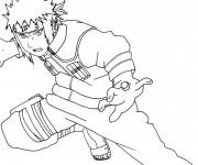 Coloriage Naruto Sasuke Uchiwa