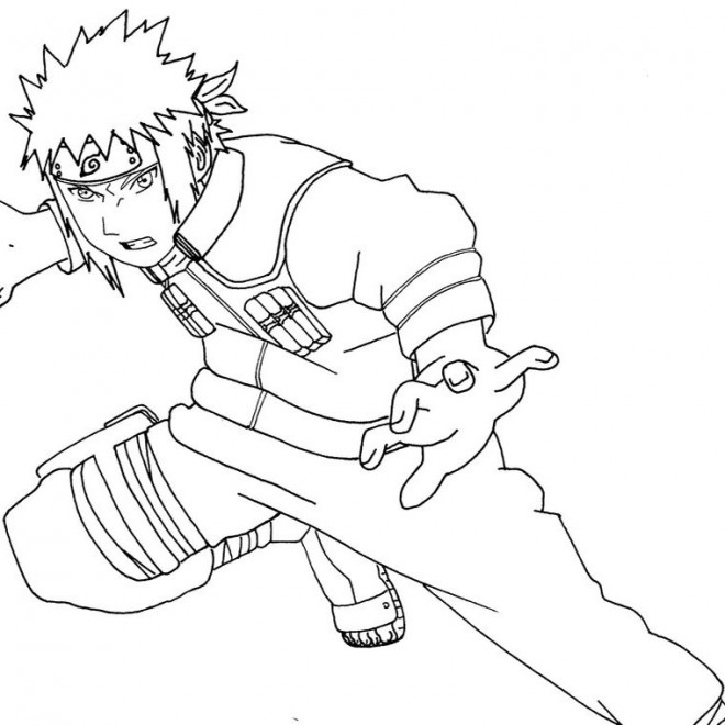 Coloriage et dessins gratuits Naruto Sasuke Uchiwa à imprimer