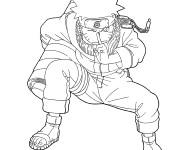 Coloriage Naruto se concentre