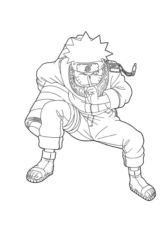 Coloriage et dessins gratuits Naruto se concentre à imprimer