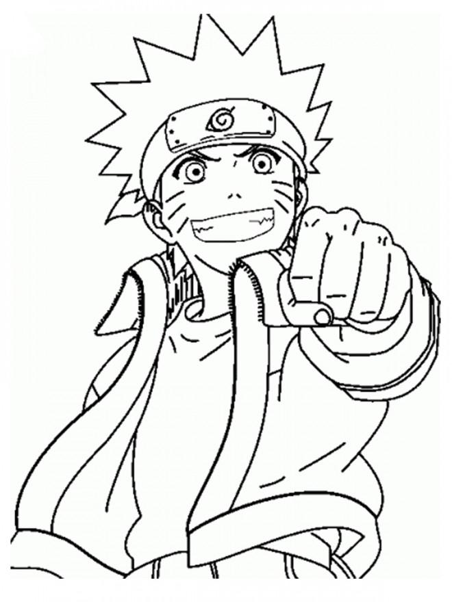 Coloriage Naruto Shippuden Dessin Gratuit A Imprimer