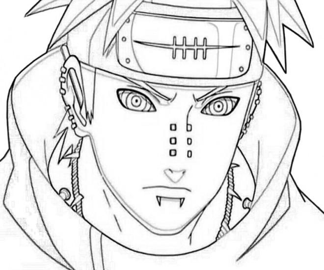 Coloriage Naruto Shippuden Pain Dessin Gratuit A Imprimer