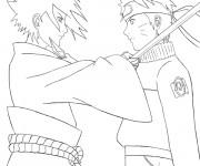 Coloriage Naruto Shippuden Sasuke