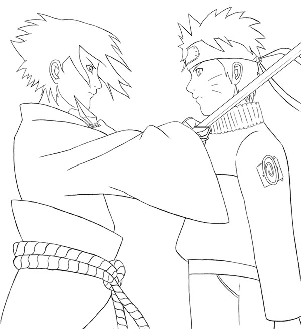 Coloriage Naruto Shippuden Sasuke Dessin Gratuit à Imprimer