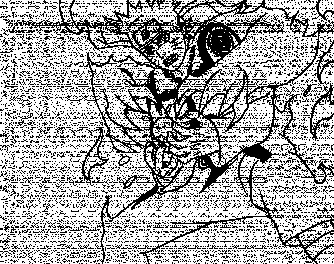 Coloriage et dessins gratuits Naruto Uzumaki combat à imprimer