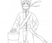 Coloriage Naruto Uzumaki confiant
