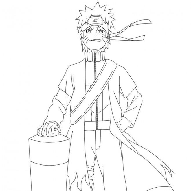 Coloriage et dessins gratuits Naruto Uzumaki confiant à imprimer