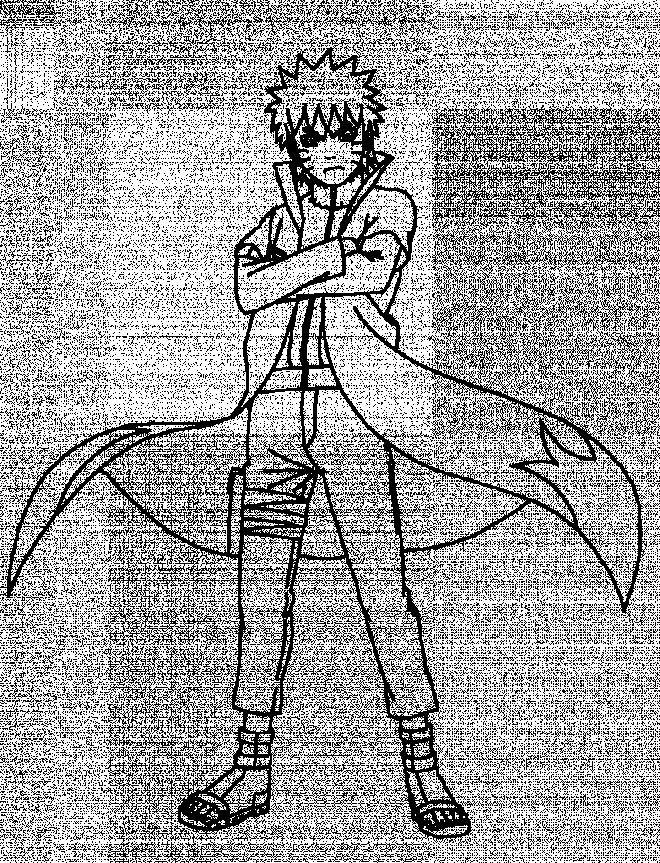 Coloriage et dessins gratuits Naruto Uzumaki en colère à imprimer
