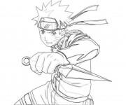 Coloriage Naruto Uzumaki en couleur