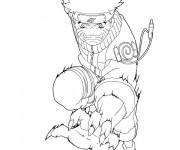 Coloriage et dessins gratuit Naruto Uzumaki en ligne à imprimer