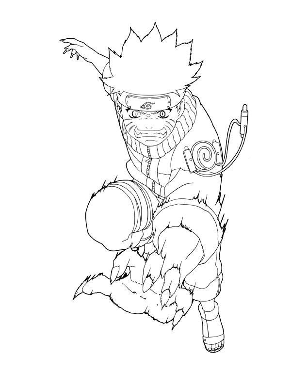 Coloriage naruto uzumaki en ligne dessin gratuit imprimer - Dessin de naruto akkipuden ...