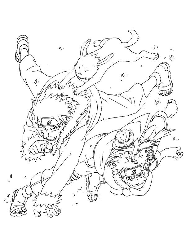 Coloriage naruto uzumaki et ses animaux dessin gratuit - Coloriages naruto ...