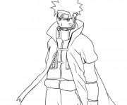 Coloriage Naruto Uzumaki facile