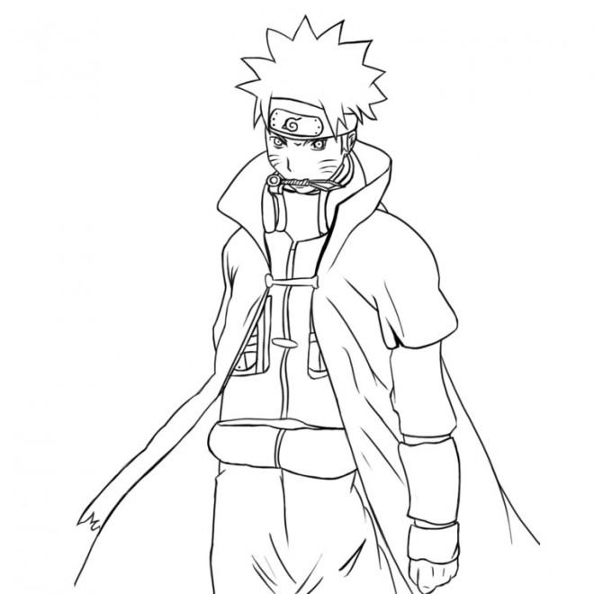 Coloriage Naruto Uzumaki Facile Dessin Gratuit A Imprimer